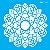Stencil 14×14 Simples – Mandala Folhas – OPA 2697 - Imagem 2