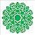 Stencil 14×14 Simples – Mandala Folhas – OPA 2697 - Imagem 1