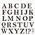 Stencil 30,5X30,5 – Alfabeto Reto Maiúsculo - OPA 2516 - Imagem 1