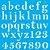 Stencil 30,5X30,5 – Alfabeto Reto Minúsculo - OPA 2517 - Imagem 2