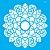 Stencil 30,5X30,5 – Mandala Folhas - OPA 2475 - Imagem 2