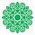 Stencil 30,5X30,5 – Mandala Folhas - OPA 2475 - Imagem 1