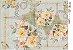 Papel Decoupage 30x45 cm OPAPEL 2524 - Flor Rosa Paris - Imagem 1
