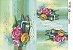 Papel Decoupage 30x45 cm OPAPEL 2393 - Flores e Livros - Imagem 1