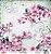 Papel Para Scrapbook Opadecor 30,5x30,5 - Flor Cerejeiras 1 2794 - Imagem 1