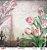 Papel Para Scrapbook Opadecor 30,5x30,5 - Flor Tulipas 2 2656 - Imagem 1