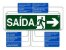 Placa Sinalização ESCADA DESCE à DIREITA ABNT - Imagem 4
