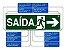 Placa Sinalização ESCADA Sobe à ESQUERDA ABNT - Imagem 2