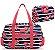 Bolsa de viagem com necessaire azul florida Jacki Design - Imagem 1