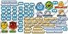 Cartaz Para Sala De Aula Calendário Smurfs - Imagem 3