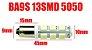 Lâmpadas BA9S Led T4W 5050 smd 13 Leds 6000K Branco 12V - Imagem 5