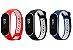 Kit 03 Pulseiras extras para MI Band 4 (Vermelho/Preto/Azul - Estilo Nike) - Imagem 1