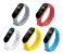 Kit 05 Pulseiras extras para MI BAND 4 - New Version (Vermelha+Cinza+Branca+Amarela+Azul Claro) - Imagem 1