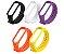Kit 05 Pulseiras extras para MI BAND 4 - New Version (Laranja+Branca+Preto+Amarelo+Roxa) - Imagem 1