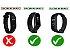 Kit 05 Pulseiras extras para MI BAND 4 - New Version (Laranja+Branca+Preto+Amarelo+Roxa) - Imagem 2