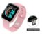 Relógio Smartwatch Inteligente D20 Rose  Esportivo Compatível Android e IOS   - Imagem 3