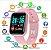 Relógio Smartwatch Inteligente D20 Rose  Esportivo Compatível Android e IOS   - Imagem 4