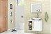 Gabinete de Banheiro Com Espelho Baden Branco - Bechara - Imagem 1