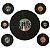 PAINEL DECORATIVO KIT DISCOS FESTA RETRÔ 60 70 80 NEON BRILHA NA LUZ NEGRA C/7UN R.258 - Imagem 1
