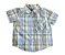 Camisa Manga Curta Xadrez Azul e Verde Baby Head Quarters - Imagem 1