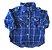 Camisa Azul Marinho Xadrez Paola Bimbi - Imagem 1