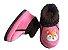 Pantufa Infantil Rosa e Marrom Raposa - Imagem 1