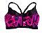 Top Body Plus Feminino Preto e Pink com Bojo - Imagem 1