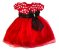 Vestido Infantil Vermelho Poá - Imagem 1