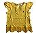 Camiseta RALPH LAUREN Infantil Amarela com Renda - Imagem 1