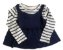 Camiseta baby GAP Azul e Branca Listrada Manga Longa  - Imagem 1