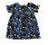 Vestido ZARA Infantil Azul Marinho Colorido - Imagem 1