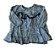 Vestido ZARA Infantil Azul Pied de Poule Manga Longa - Imagem 1