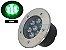 Luminária de chão Balizador de embutir LED 7W verde a Prova d' água  - Imagem 1