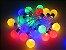 Cordão Fixo Fio de Luz LED Branca com 20 Bolinhas colorida 4M Bivolt - Imagem 1