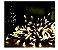 Cordão Fixo Com 1000 Leds Fixo - Prova d'aguá - 100 Metros - Branco Quente - Imagem 1