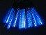 Tubo LED Snow Fall Sequencial com 8 Tubos 50CM Azul Bivolt - Imagem 1