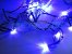 Cordão sequencial 100 LEDs Fio Verde 9,7 Metros Azul 110V - Imagem 2