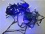 Cordão sequencial 100 LEDs Fio Verde 9,7 Metros Azul 110V - Imagem 3