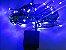Cordão sequencial 100 LEDs Fio Verde 9,7 Metros Azul 110V - Imagem 1