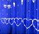 Cortina de Corações 138 LEDs - 8 Funções - Branco Frio - 110V - Imagem 1