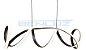 Pendente 100×21×120cm Metal e Silicone Marron Led 65w 3000k Bivolt - Imagem 2