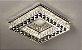 Plafon Quadrado 45cm Cristal Led 3000k 4000k 6000k Controle Bivolt - Imagem 1