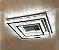 Plafon Quadrado 40×60cm Cristal Led 48w 3000k4000k 6000k 3600lm Controle Bivolt - Imagem 2