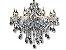 Pendente 92x75cm Cristal e Metal Cromado E14×12 - Imagem 2
