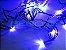 Cordão sequencial 100 LEDs Fio Verde 9,7 Metros Azul 220V - Imagem 2