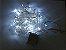 Cordão sequencial 100 LEDs Fio Transparente 9,7 Metros Branco Frio 220V - Imagem 3
