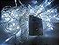 Cordão sequencial 100 LEDs Fio Transparente 9,7 Metros Branco Frio 220V - Imagem 1