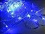 Cordão sequencial 100 LEDs Fio Transparente 9,2 Metros Azul 127V - Imagem 2
