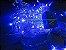 Cordão sequencial 100 LEDs Fio Transparente 9,2 Metros Azul 127V - Imagem 1