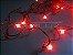 Cordão sequencial 100 LEDs Fio Vermelho 9,2 Metros Vermelho 127V - Imagem 2